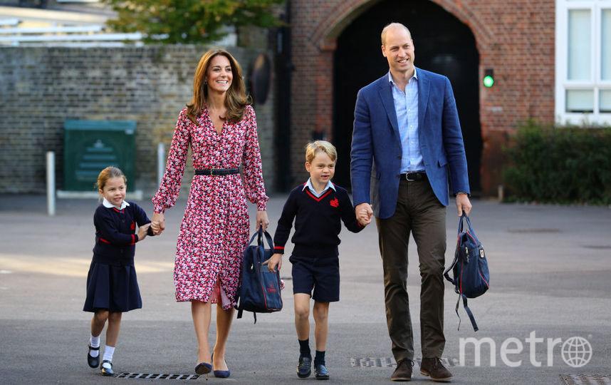 Кейт Миддлтон, принц Уильям, принцесса Шарлотта и принц Джордж. Фото Getty