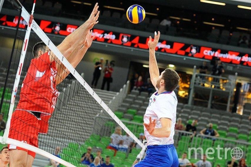 Российские волейболисты победили в первом матче чемпионата Европы. Фото Скриншот @volleyballeurope