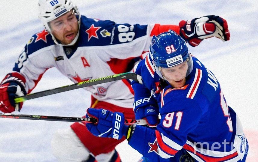 ЦСКА обыграл СКА в Петербурге 3:0. Фото скриншот @hcska