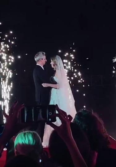 Свадьба Ксении Собчак и Константина Богомолова. Фото Скриншот instagram.com/matilda.shnurova/