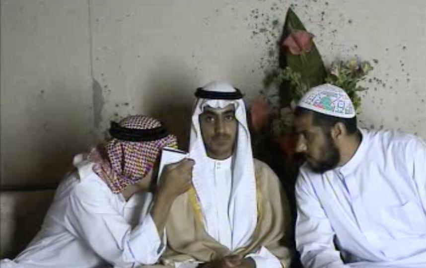 Хамза бен Ладен (в центре). Фото AFP