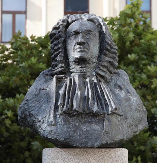 В Санкт-Петербурге открыли памятник композитору Баху. Фото Скриншот instagram.com/ptrubinov/