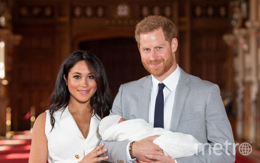 Принц Гарри с Меган Маркл и сыном Арчи. Фото Getty