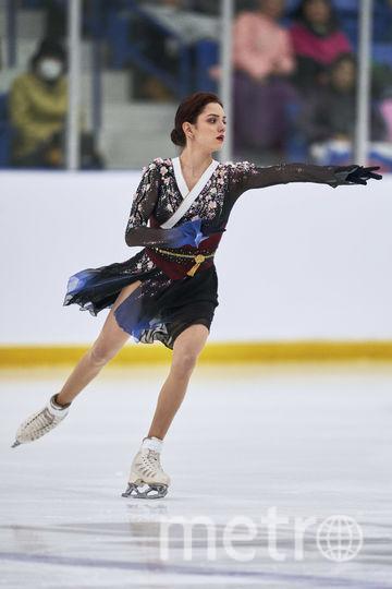 Болельщикам очень понравилось платье Евгении Медведевой для программы под музыку из фильма «Мемуары гейши». Фото AFP