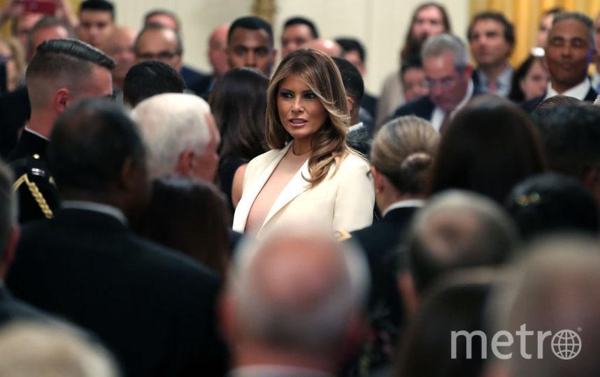 Мелания Трамп на церемонии чествования Мариано Риверы. Фото Getty