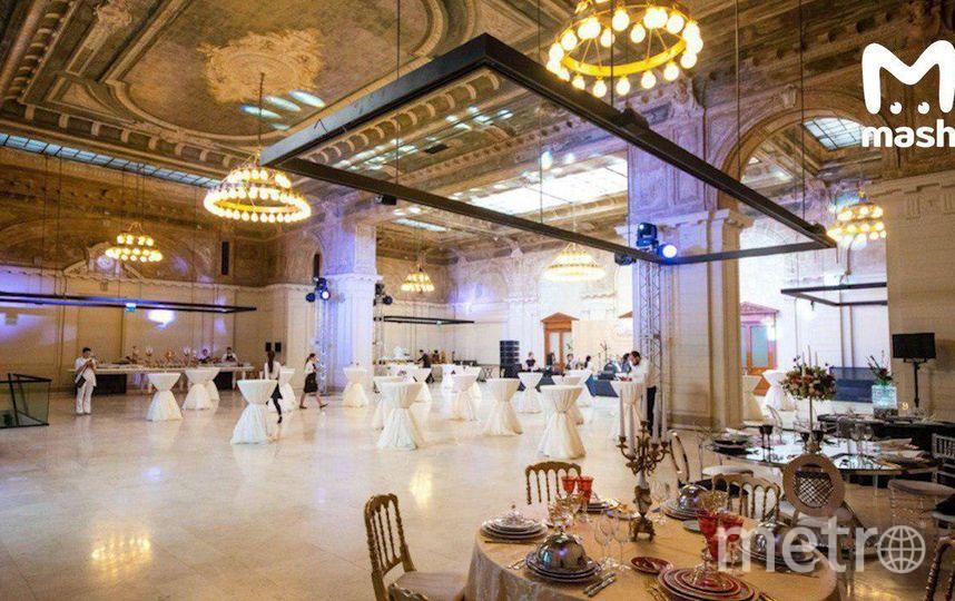 """Фото антуража свадебного зала, где пройдет торжество, опубликовал Мash. Фото https://t.me/breakingmash, """"Metro"""""""
