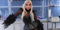 Леди Гага в чёрных кружевах снова