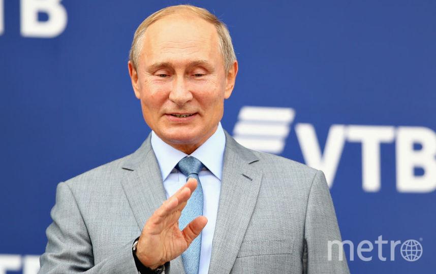 Владимир Путин поприветствовал участников и организаторов мужского теннисного турнира St. Petersburg Open-2019. Фото Getty