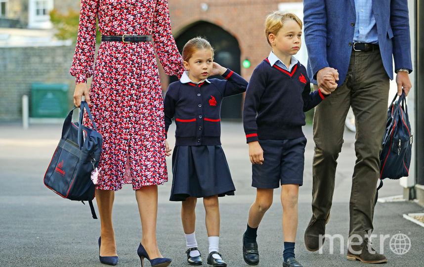 Принц Уильям и Кейт Миддлтон отвели детей в школу 5 сентября. Фото Getty