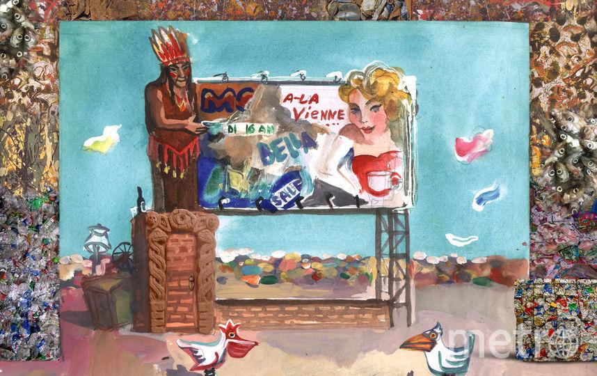 """Эскиз для спектакля, в котором ждут Кокорина. Футболисту предложили сыграть индейца. Фото фото предоставлено организаторами, """"Metro"""""""
