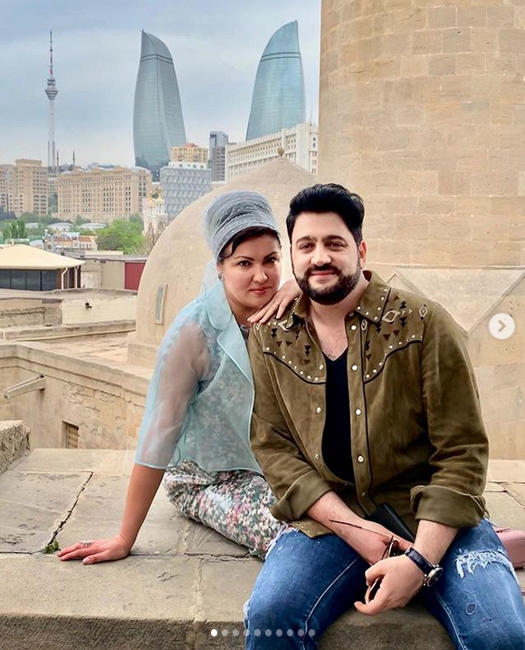 Анна Нетребко с мужем Юсифом Эйвазовым. Фото Скриншот Instagram: @anna_netrebko_yusi_tiago