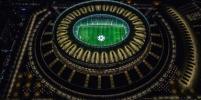 Оператор дрона красиво фотографирует футбольные стадионы