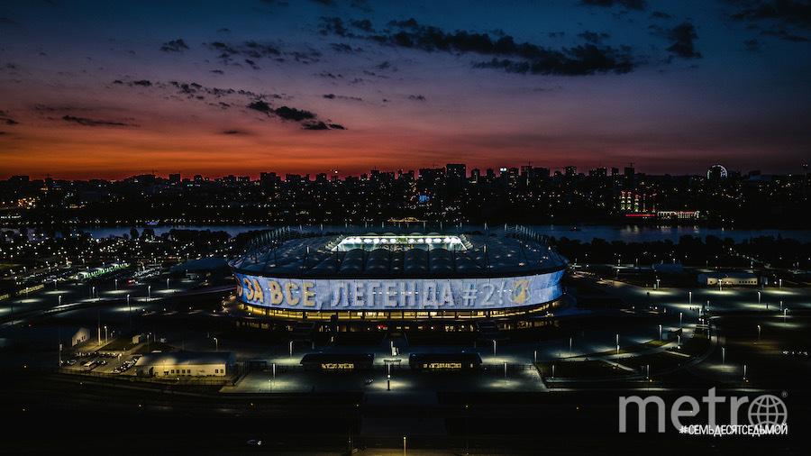 Александр любит футбол и в детстве даже играл за юношескую команду «Ростсельмаш». Он часто снимает родной стадион «Ростова». Фото Телеграм-канал #СемьдесятСедьмой