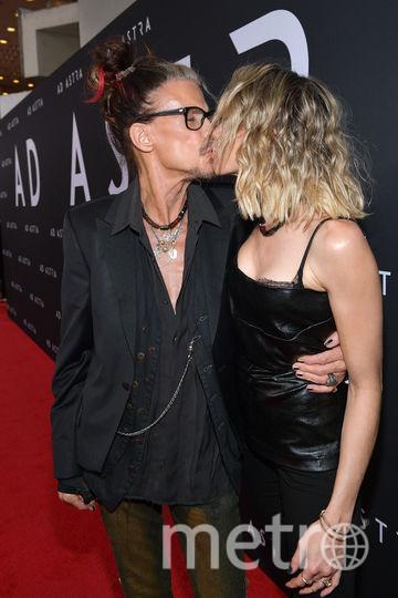 Стивен Тайлер с возлюбленной Айми Престон. Фото Getty