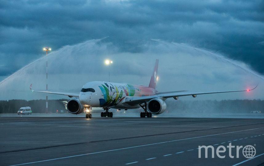 """Airbus A350 - фото одного из крупнейших самолетов в мире. Фото предоставлено ООО «Воздушные Ворота Северной Столицы», """"Metro"""""""