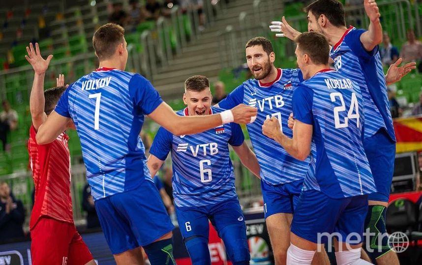 Сборная России по волейболу обыграла Словению 3:0. Фото Скриншот @rusvolleyteam