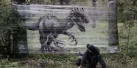Художник превратил парки Москвы в мастерскую