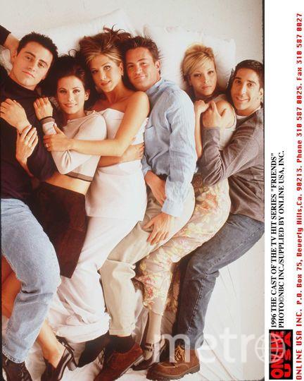 "Актёрский состав ""Друзей"", 1996 год. Фото Getty"