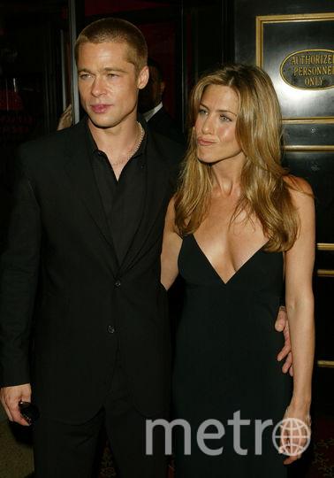 Брэд Питт и Дженнифер Энистон, 2004 год. Фото Getty