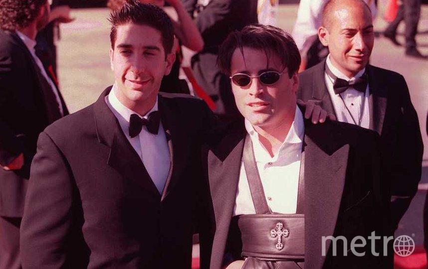Дэвид Швиммер и Мэтт Леблан, 1996 год. Фото Getty