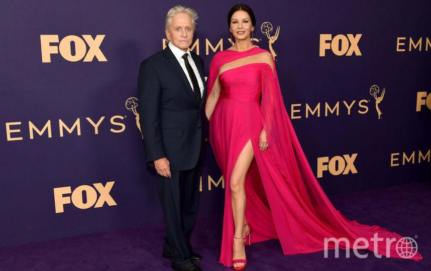 71st Emmy Awards. Кэтрин Зета-Джонс и Майкл Дуглас. Фото Getty
