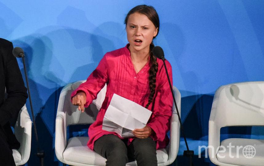 Грета Тунберг на саммите ООН по климату. Фото Getty