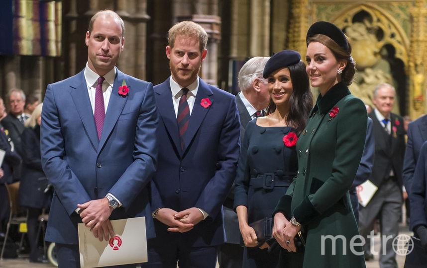 Принцы Уильям и Гарри, и Меган Маркл и Кейт Миддлтон. Фото Getty