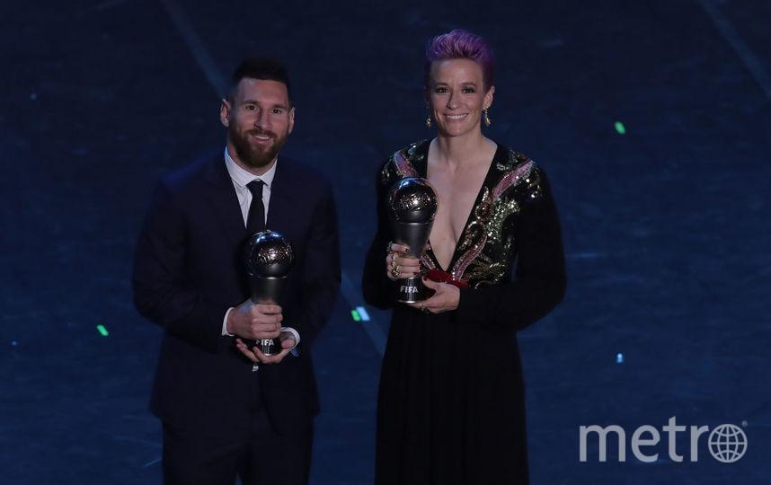 Лионель Месси и Меган Рапино – лучшие футболисты года по версии ФИФА. Фото Getty