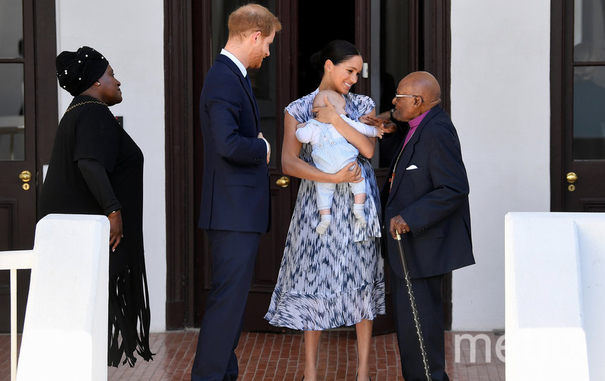 Принц Гарри и Меган Маркл посетили резиденцию южноафриканского архиепископа. Фото Getty