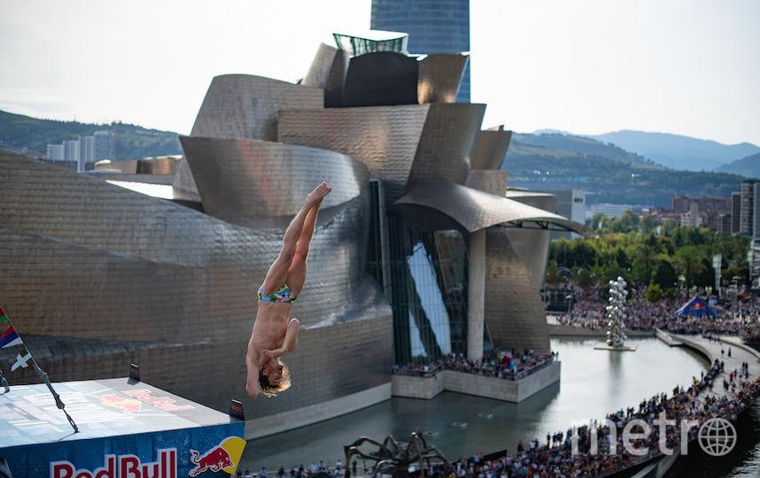 На заключительном этапе сезона в Бильбао Хант одержал очередную победу в прыжках в воду с 27-метровой вышки. Фото redbullcontentpool.com