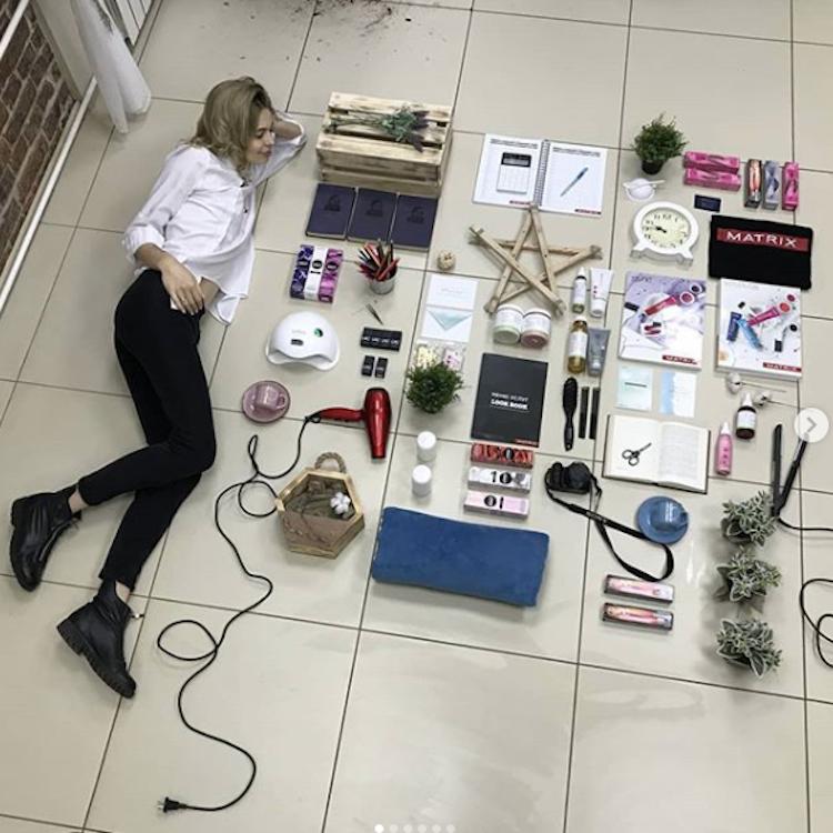 В Сети продолжает набирать обороты #TetrisChallenge. Фото скриншот https://www.instagram.com/marika_tsitova/