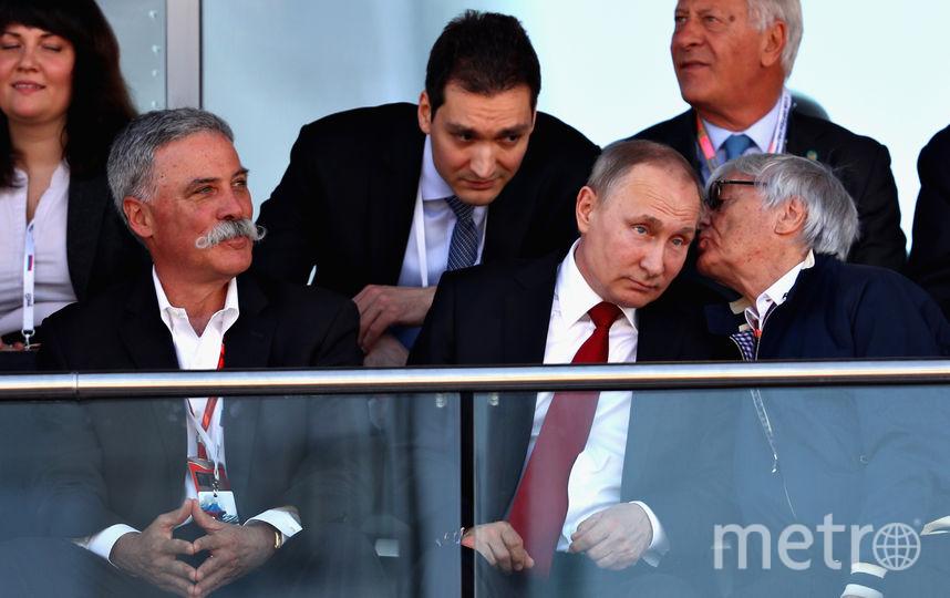 """Владимир Путин и Берни Экклстоун, экс-руководитель """"Формулы-1"""". Фото Getty"""