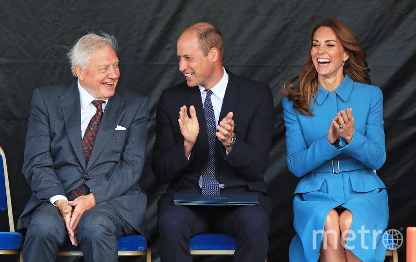 Принц Уильям и Кейт Миддлтон посетили торжественную церемонию спуска на воду исследовательского корабля. Фото AFP