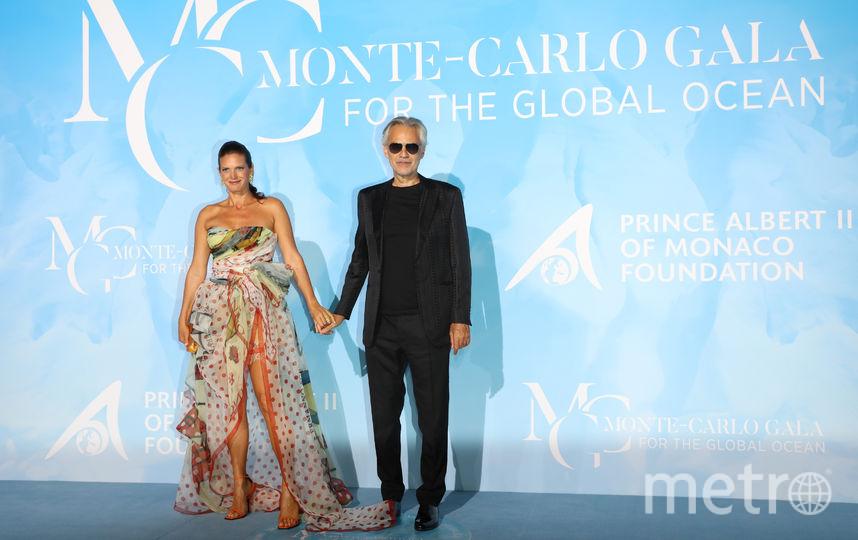 Андреа Бочелли с женой. Фото AFP