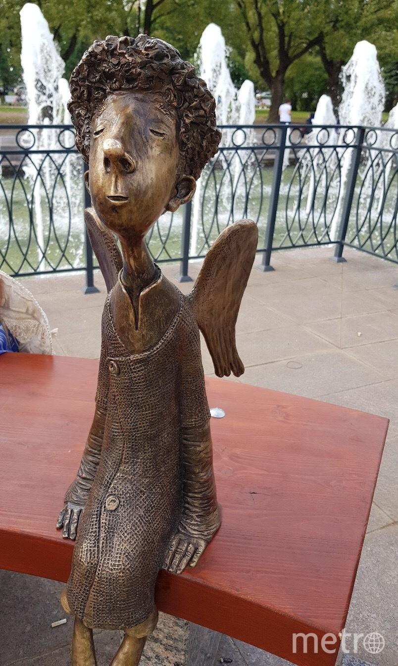 """Ангела из Любашинского сада забрали, чтобы отремонтировать. Фото https://vk.com/wall-99020886_922033, """"Metro"""""""