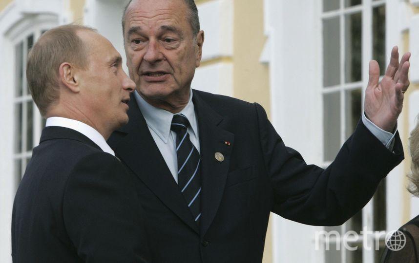 Путин и Ширак в Петергофе в 2006-м году. Фото Getty