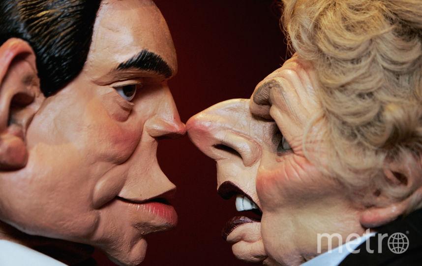 Карикатура на Гордона Брауна и Маргарет Тэтчер. Фото Getty