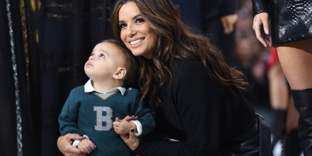 Ева Лонгория с сыном.