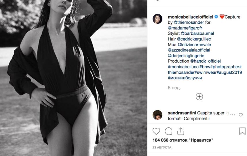 Моника Беллуччии, фотоархив. Фото скриншот www.instagram.com/monicabellucciofficiel/