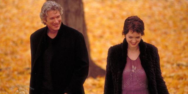 """Кадр из фильма """"Осень в Нью-Йорке""""."""
