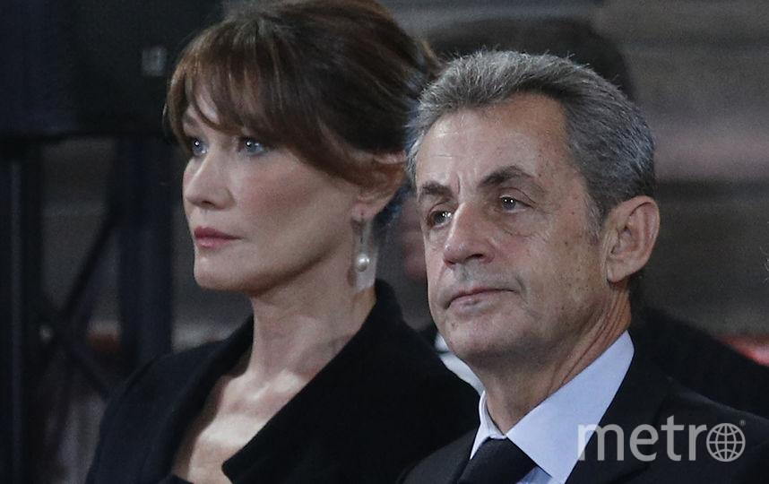 Николя Саркози с женой. Фото AFP