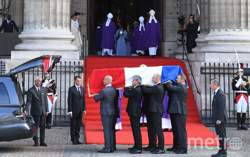 В Париже началась церемония прощания с Жаком Шираком. Фото AFP