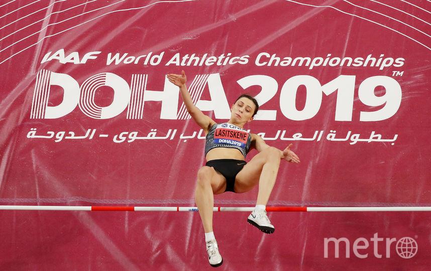 Триумф Ласицкене в Дохе. Фото Getty