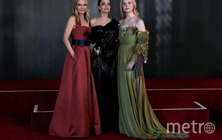 Мишель Пфайффер, Анджелина Джоли и Эль Фаннинг. Фото Getty