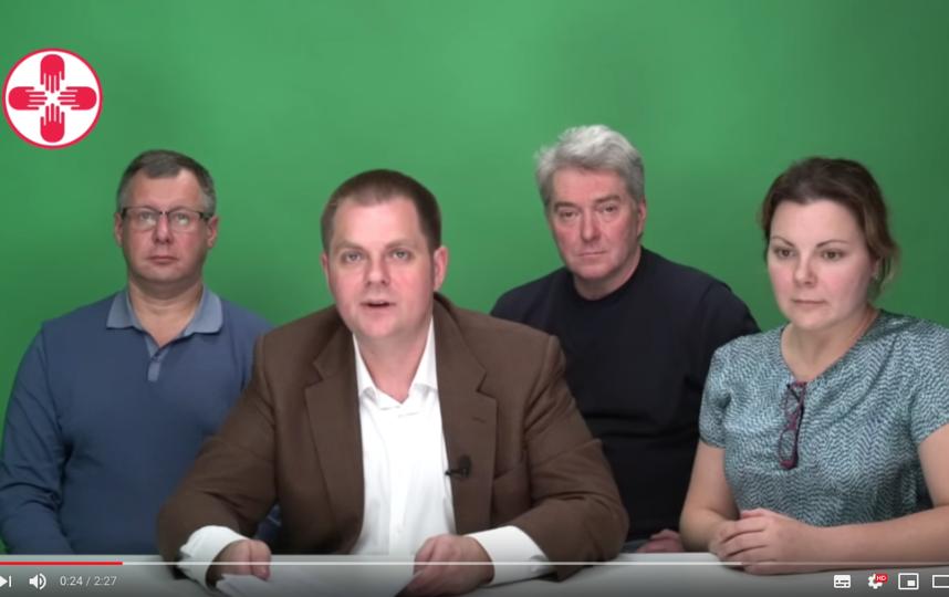 """Инициативная группа детских онкологов записала видеообращение. Фото скриншот со страничке """"Альянса врачей"""" на YouTube"""