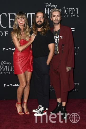 Хайди Клум с мужем Томом Каулитцем и его братом Биллом. Фото Getty