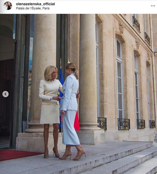 """Елена Зеленская уже успела пообщаться с супругами мировых лидеров. Фото """"Metro"""""""