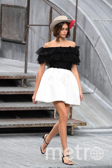 Кайя Гербер на показе Chanel. Фото Getty