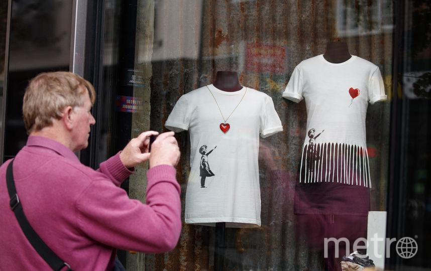 Британский уличный художник Бэнкси объявил об открытии своего магазина. Фото AFP