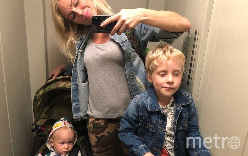 Катя Гордон с сыновьями. Фото из личного архива Гордон